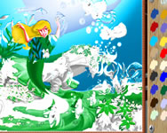 Little Mermaid online coloring játék