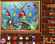 Sort my tiles Triton and Ariel online játék